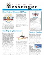 Winter 2016 Messenger Newsletter Cover
